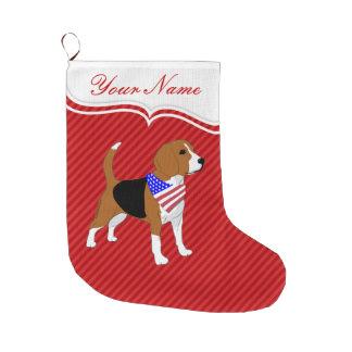 Meia De Natal Grande Todo o cão patriótico do lebreiro americano