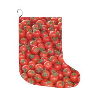 Meia De Natal Grande Tomates vermelhos da videira