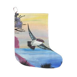 Meia De Natal Grande Uma opinião dos pássaros