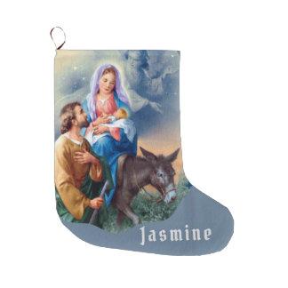 Meia De Natal Grande Vôo em Egipto Jesus Mary Joseph