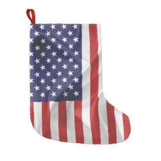 Meia De Natal Pequena A bandeira dos Estados Unidos da América