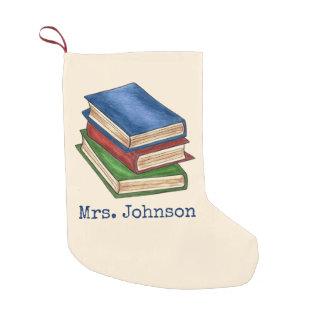 Meia De Natal Pequena A biblioteca registra a meia do Natal do professor