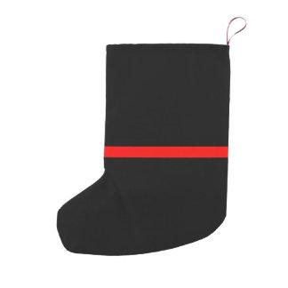 Meia De Natal Pequena A linha vermelha fina simbólica indicação em a