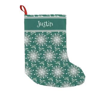 Meia De Natal Pequena A meia do verde esmeralda do Natal personaliza o