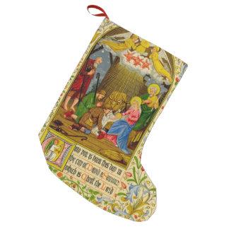 Meia De Natal Pequena A natividade | até você é nascida este dia