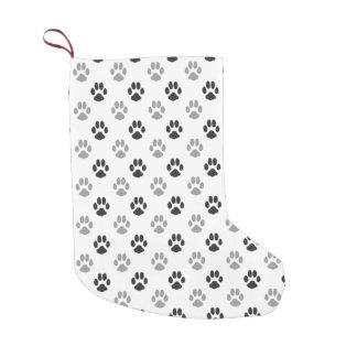 Meia De Natal Pequena A pata preto e branco bonito imprime o teste