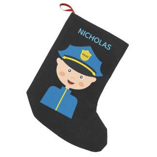 Meia De Natal Pequena Agente da polícia - polícia - desenhos animados