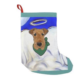 Meia De Natal Pequena Airedale Terrier
