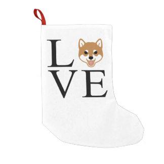 Meia De Natal Pequena Amor de Shiba Inu