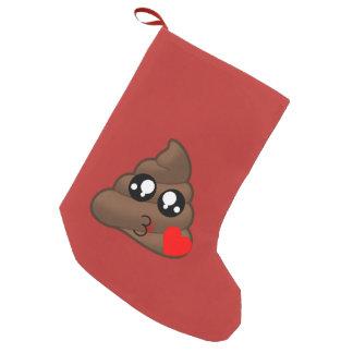 Meia De Natal Pequena Amor Emoji do coração do tombadilho