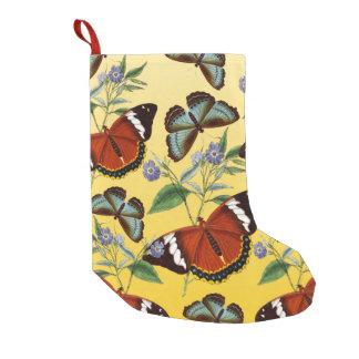 Meia De Natal Pequena as borboletas misturam o amarelo