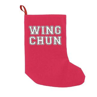 Meia De Natal Pequena Asa Chun