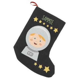Meia De Natal Pequena Astronauta - estrelas do astronauta no espaço