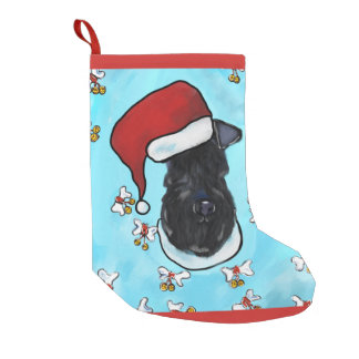 Meia De Natal Pequena Azul de Kerry Terrier