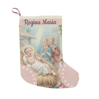 Meia De Natal Pequena Bebê personalizado Jesus em meninas do comedoiro
