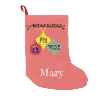 Meia De Natal Pequena Bênção do Natal