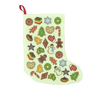 Meia De Natal Pequena Biscoitos do feriado do biscoito de açúcar do
