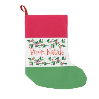 Meia De Natal Pequena Buon Natale (Feliz Natal)