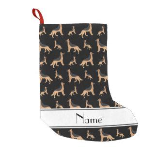 Meia De Natal Pequena Cães de german shepherd pretos conhecidos