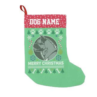 Meia De Natal Pequena Camisola feia do Natal da raça do cão de Akita