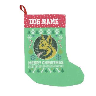 Meia De Natal Pequena Camisola feia do Natal da raça do cão de german