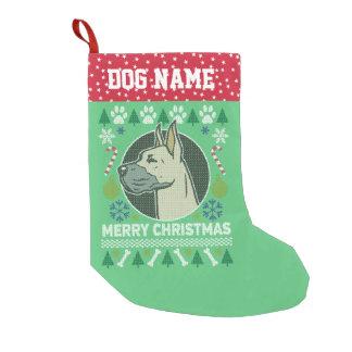 Meia De Natal Pequena Camisola feia do Natal da raça do cão de great