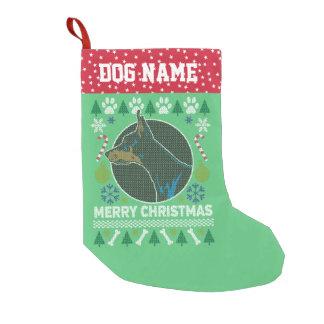 Meia De Natal Pequena Camisola feia do Natal da raça do cão do Pinscher
