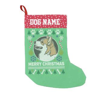 Meia De Natal Pequena Camisola feia do Natal do cão do Corgi de Galês do