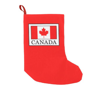 Meia De Natal Pequena Canadá
