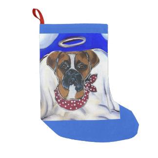 Meia De Natal Pequena Cão do pugilista