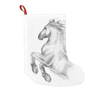 Meia De Natal Pequena Cavalo andaluz poderoso