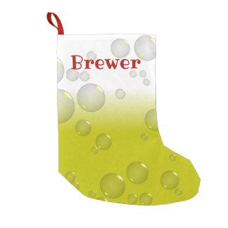 Meia De Natal Pequena Cervejeiro