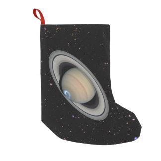 Meia De Natal Pequena Céu estrelado de Saturn do planeta