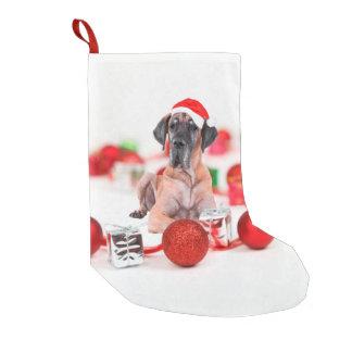 Meia De Natal Pequena Chapéu bonito do papai noel do Natal do cão de