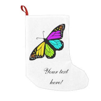 Meia De Natal Pequena Clipart colorido da borboleta