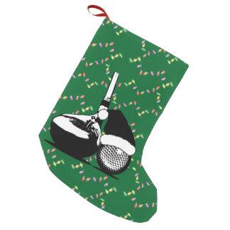 Meia De Natal Pequena Clube e bola de golfe do Natal