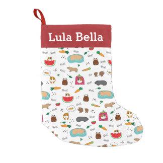 Meia De Natal Pequena Cobaias personalizadas bonitos
