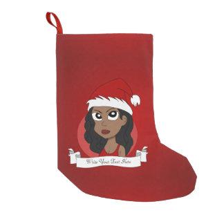 Meia De Natal Pequena Desenhos animados da menina do Natal