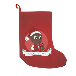 Meia De Natal Pequena Desenhos animados do bebê do Natal