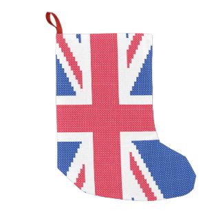 Meia De Natal Pequena Design original Union Jack do ponto de cruz