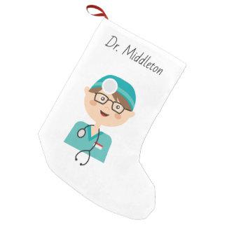 Meia De Natal Pequena Doutor - médico - assistente médico