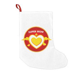 Meia De Natal Pequena Emblema engraçado da mamã do flash do super-herói