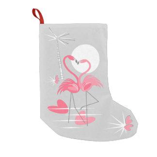 Meia De Natal Pequena Estoque do amor do flamingo unilateral