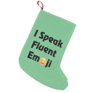 Meia De Natal Pequena Eu falo a meia fluente do Natal de Emoji