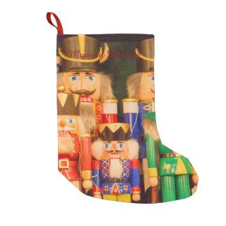 Meia De Natal Pequena Exército de Nutcrackers do Natal