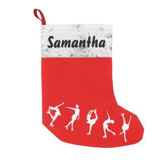 Meia De Natal Pequena Figura feita sob encomenda meia do patinador