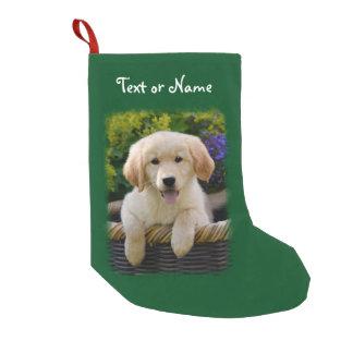 Meia De Natal Pequena Filhote de cachorro de encantamento do cão do