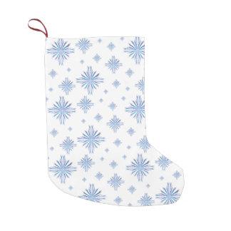 Meia De Natal Pequena Flocos de neve