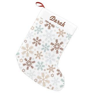 Meia De Natal Pequena Flocos de neve bonitos e coloridos