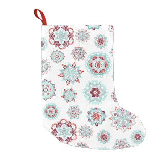 Meia De Natal Pequena Flocos impetuosos da neve
